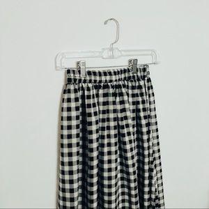 | Gingham Midi Skirt |